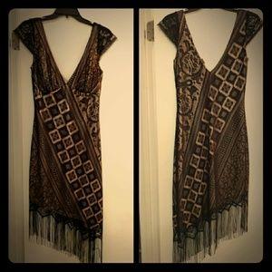 Moda International flapper style dress fringe